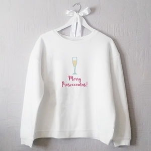 Merry Proseccomas! Personalised Jumper