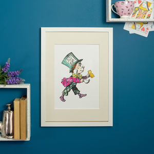 Mad Hatter Alice In Wonderland Print - pictures & prints for children