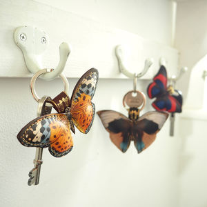Leather Butterfly Key Rings Various Designs