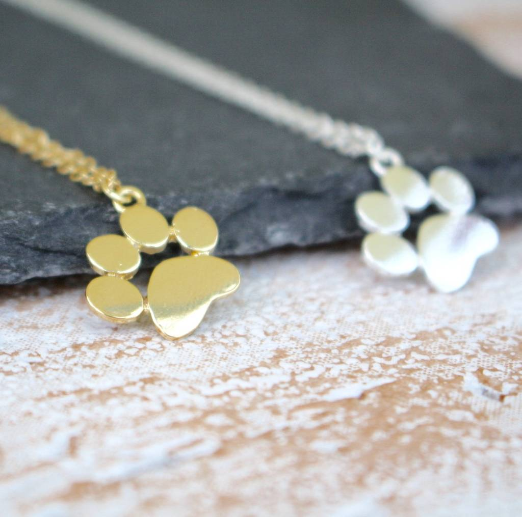 Paw Print Necklace by By Poppy