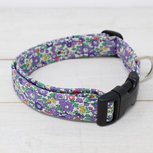 Maggie Liberty Fabric Dog Collar - dog collars