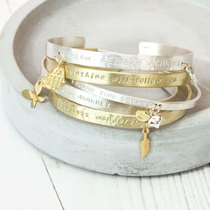 Create Your Own Personality Mantra Bracelet - bracelets & bangles