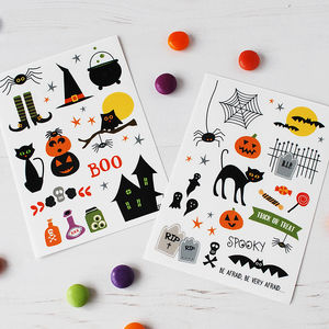 Children's Spooky Halloween Temporary Tattoos - whatsnew