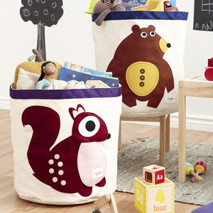 Children's Animal Toy Storage Bin
