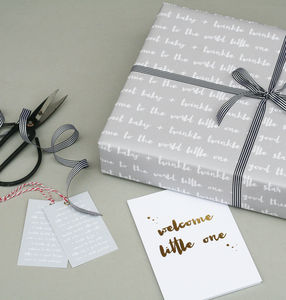Luxury New Baby Wrapping Paper Bundle - wrapping paper