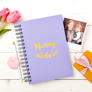 Personalised Floral Foiled Notebook