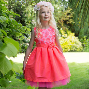 Half Price Girls Occasion Party Dress With Embroidery