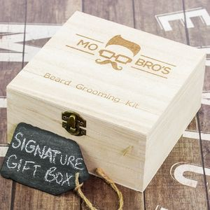 Mo Bro's Signature Wooden Beard Box - men's grooming & toiletries