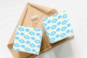 Personalised Cloud Wrapping Paper