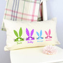 Personalised Rabbit Family Cushion