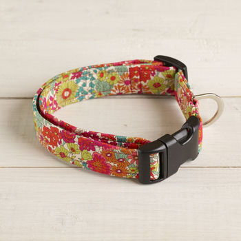 Delilah Liberty Fabric Dog Collar