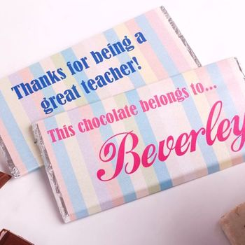 Personalised This Chocolate 'Belongs To' Bar