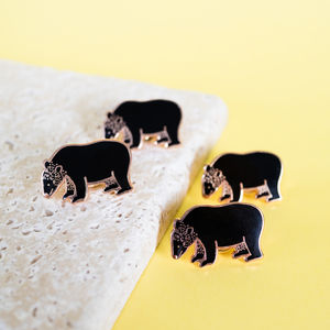 Bear Enamel Pin - pins & brooches