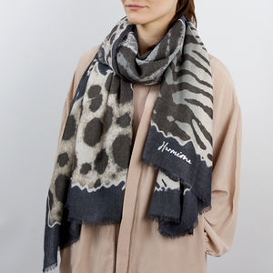 Personalised Leopard Spotted Print Scarf - gifts for her