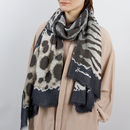 Personalised Leopard Spotted Print Scarf