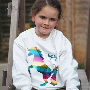 Rainbow Unicorn Personalised Jumper