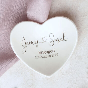 Personalised Engagement Ring Dish Gift