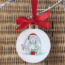 Personalised Baby's First Christmas Little Bunny Bauble
