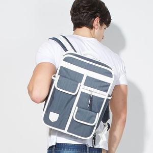 Multi Pocket Retro Backpack