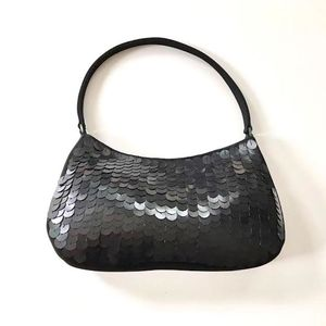 Gift For Her Satin Sequin Evening Bag - sale