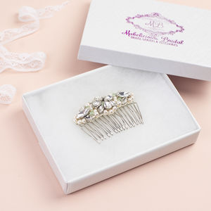 Audrey Bridal Hair Comb - styling your day sale