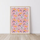 Patterned Rainbow And Flower Abstract Shapes Print