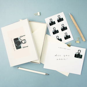 Personalised Camera Writing Set - film & tv