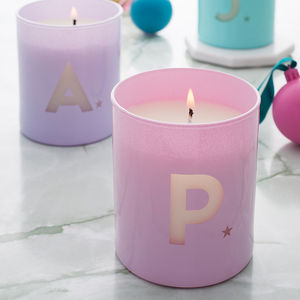Personalised Glow Through Initial Candle