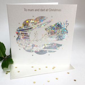 Christmas Card To Mum And Dad - cards