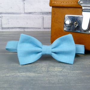 Boys Linen Bow Tie - christening wear