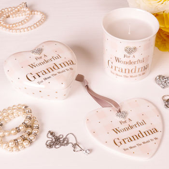 Personalised Wonderful Grandma Keepsake Gift Selection