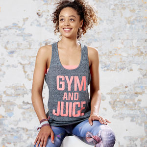 Gym And Juice Racer Back Vest - tops & t-shirts