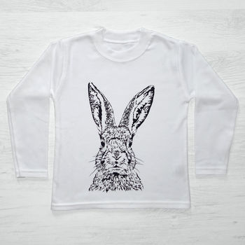 Childs Peeping Rabbit Long Sleeve T Shirt
