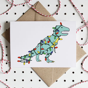 Tree Rex Dinosaurs Christmas Card - winter sale