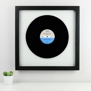 Personalised Framed Vinyl Record