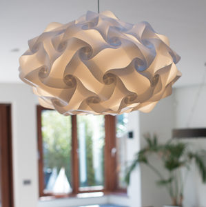White Pendant Light Shade Smarty Lamps Astrid - dining room