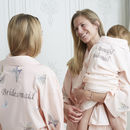 Personalised Bridal Butterfly Long Dressing Gown