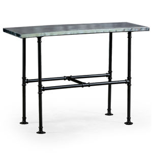 Industrial Metal Console Table With Iron Legs - furniture