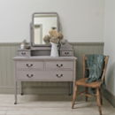 Distressed Vintage Swivel Mirror Dressing Table