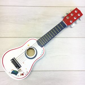 Wooden Painted Toy Guitar