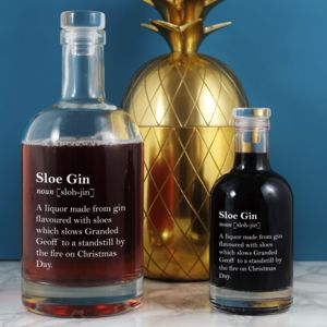 Personalised Sloe Gin Definition Gift 700ml