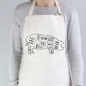 Butcher Pork Cuts Apron - aprons
