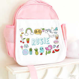 Personalised School Bag '80's' - bags, purses & wallets