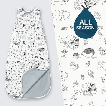 All Season Merino Baby Sleep Bag 'Enchanted Forest'