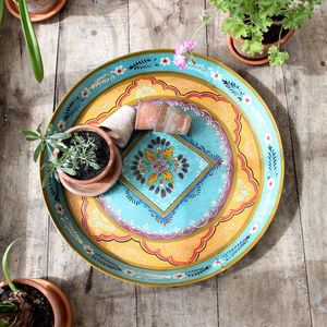 Decorative Metal Tray - tableware