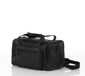 Waterloo Black Unisex Leather Travel Bag