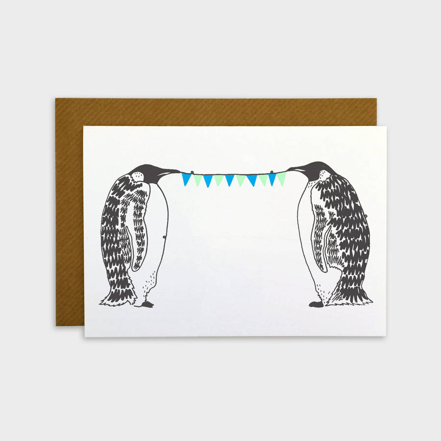 Penguin Party Animal Card