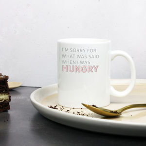 'Hangry' Ceramic Apology Mug
