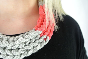 Statement Knitted Necklace