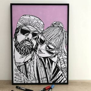 Personalised Hand Drawn 'Couple' Portrait - top unique gifts